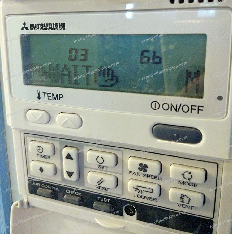 télécommande PAC Mitsubishi