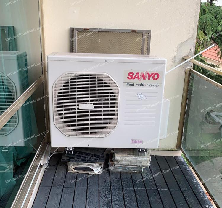 climatisation Sanyo ne refroidit plus