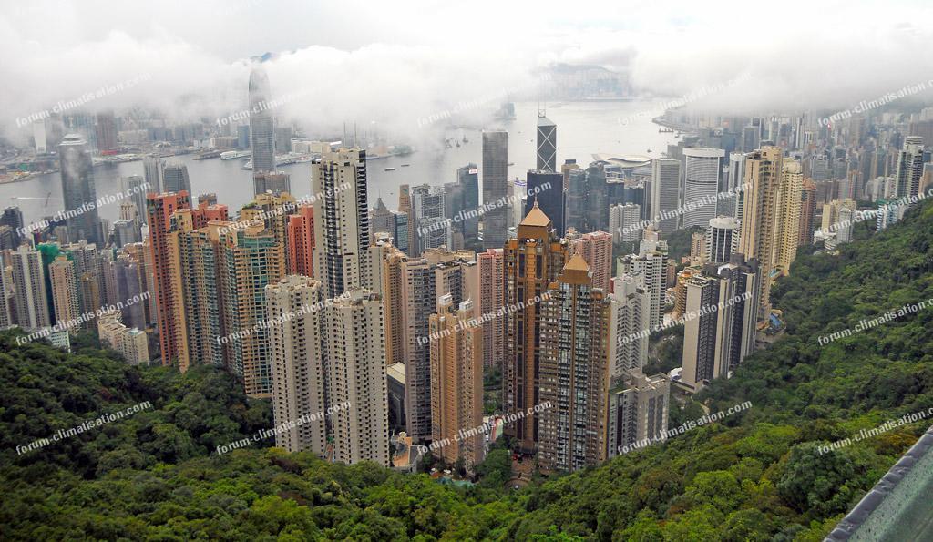 baie de Hong Kong depuis le Victoria Peak