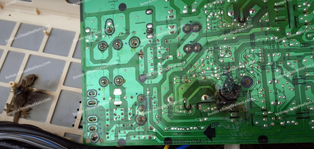 dépannage carte clim Hitachi RAM 53QH5