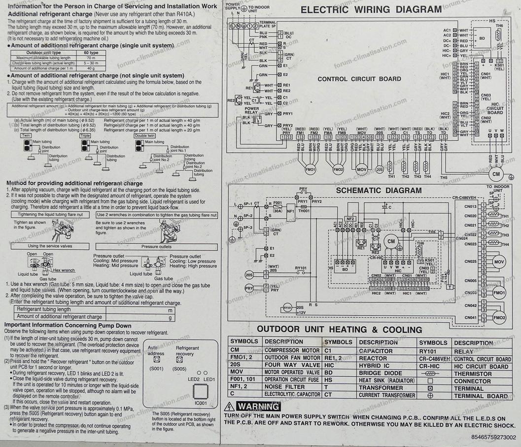 schéma électrique PAC Sanyo spw c606veh