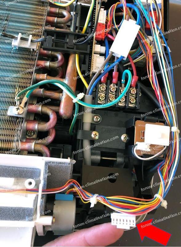 câblage récepteur télécommande clim Daewoo