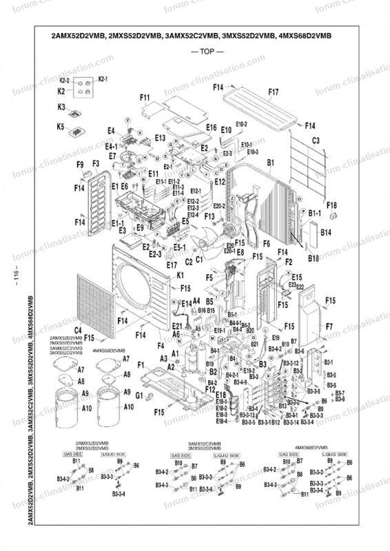carte clim 3mxs52d2vmb