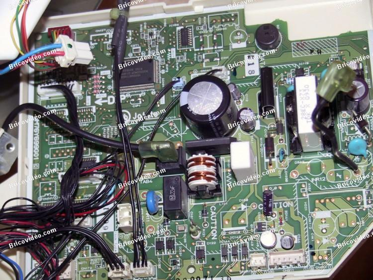 Branchement télécommande filaire climatiseur Mitsubishi