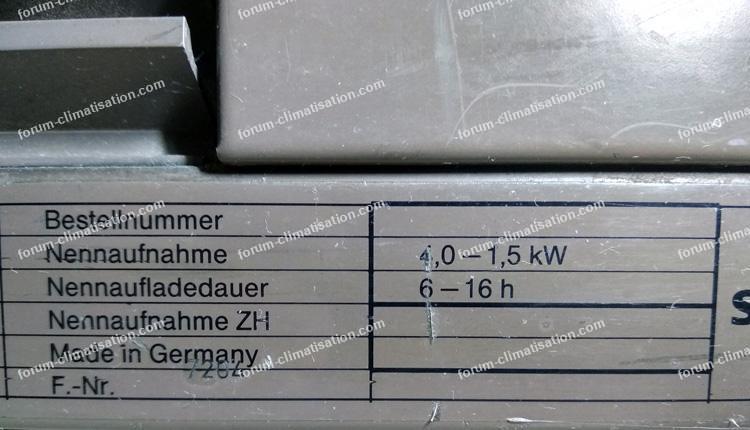 chauffage à accumulation Siemens