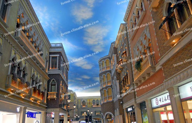 ciel artificiel à Macao