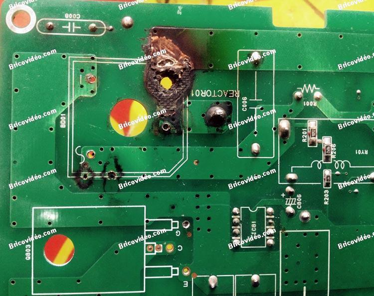 circuit imprime brule clim samsung 05