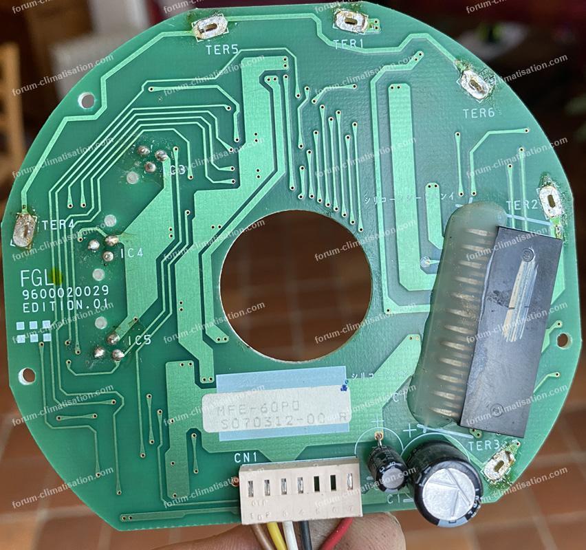 circuit imprimé moteur clim