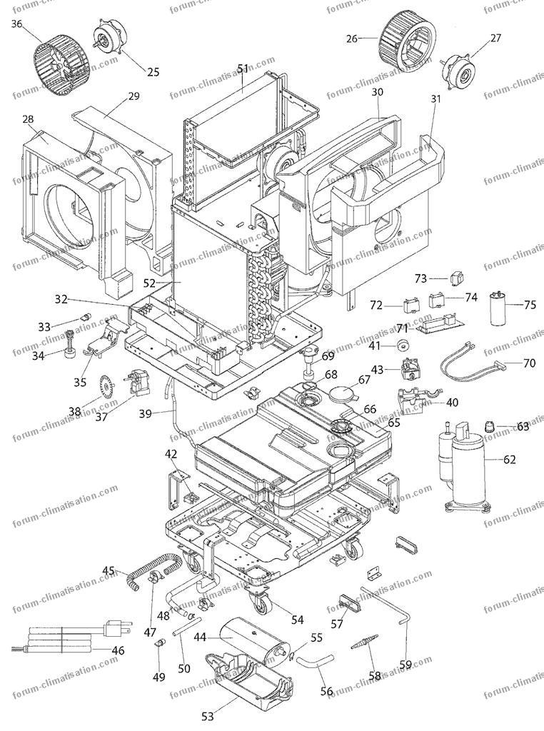 bricovid o climatisation probl me climatiseur monobloc plus de recyclage des eaux condens es. Black Bedroom Furniture Sets. Home Design Ideas