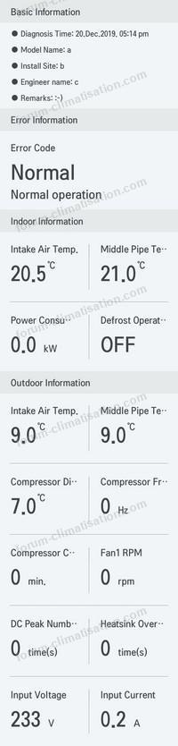 clim LG en mode ventilation