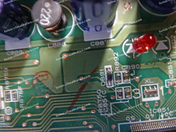 climatisation mitsubishi dépannage carte électronique