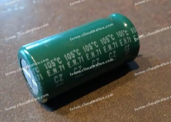 condensateur chimique radial 2200uf / 25v