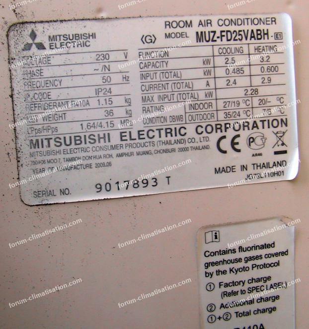 consommation élevée pompe à chaleur Mitsubishi
