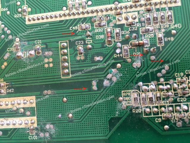 corrosion carte climatiseur