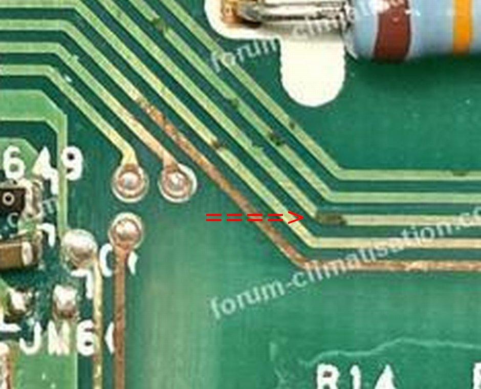 corrosion piste circuit imprimé