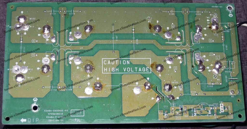 dépanner carte électronique PAC Fujitsu