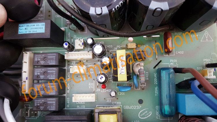 Dépannage carte électronique climatisation Carrera