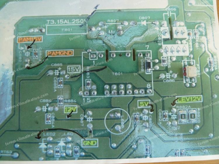 dépannage carte climatiseur Mitsubishi