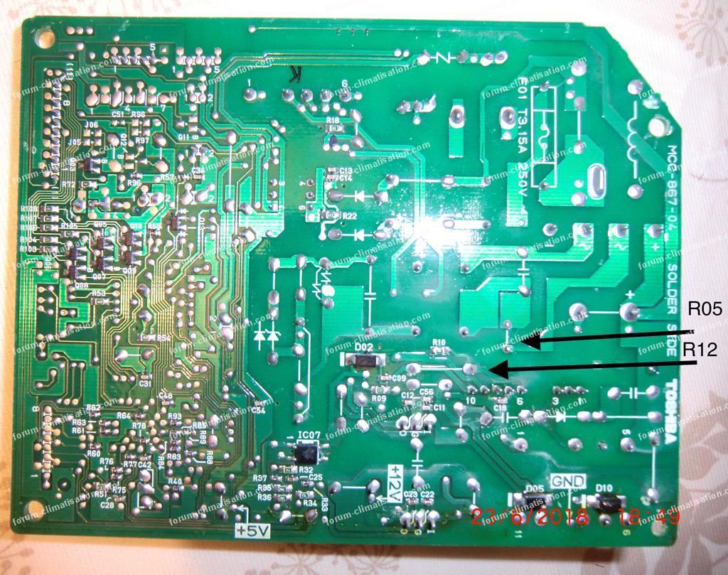 dépannage carte clim Toshiba MCC 867 - 04