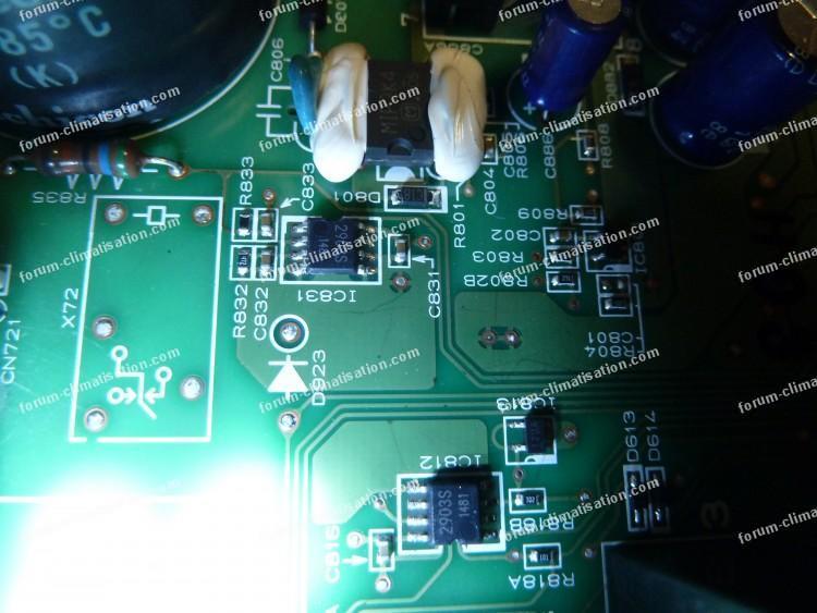 dépannage carte électronique climatisation Mitsubishi