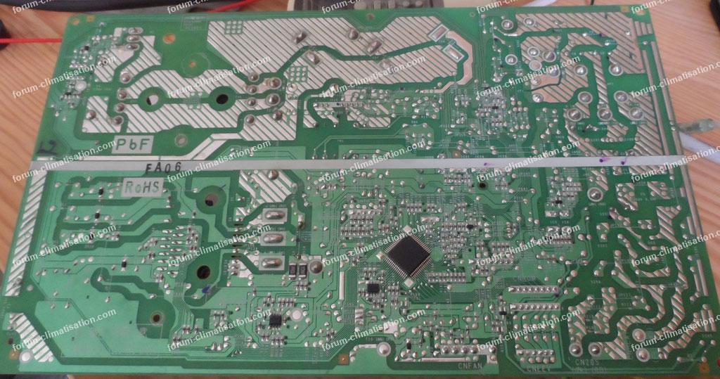 depannage carte electronique clim reversible mitsubishi