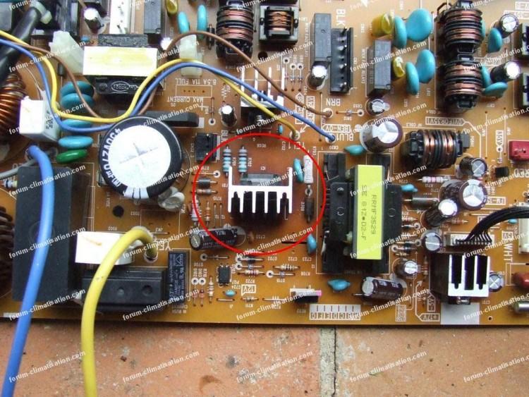 dépannage carte électronique climatiseur Hitachi