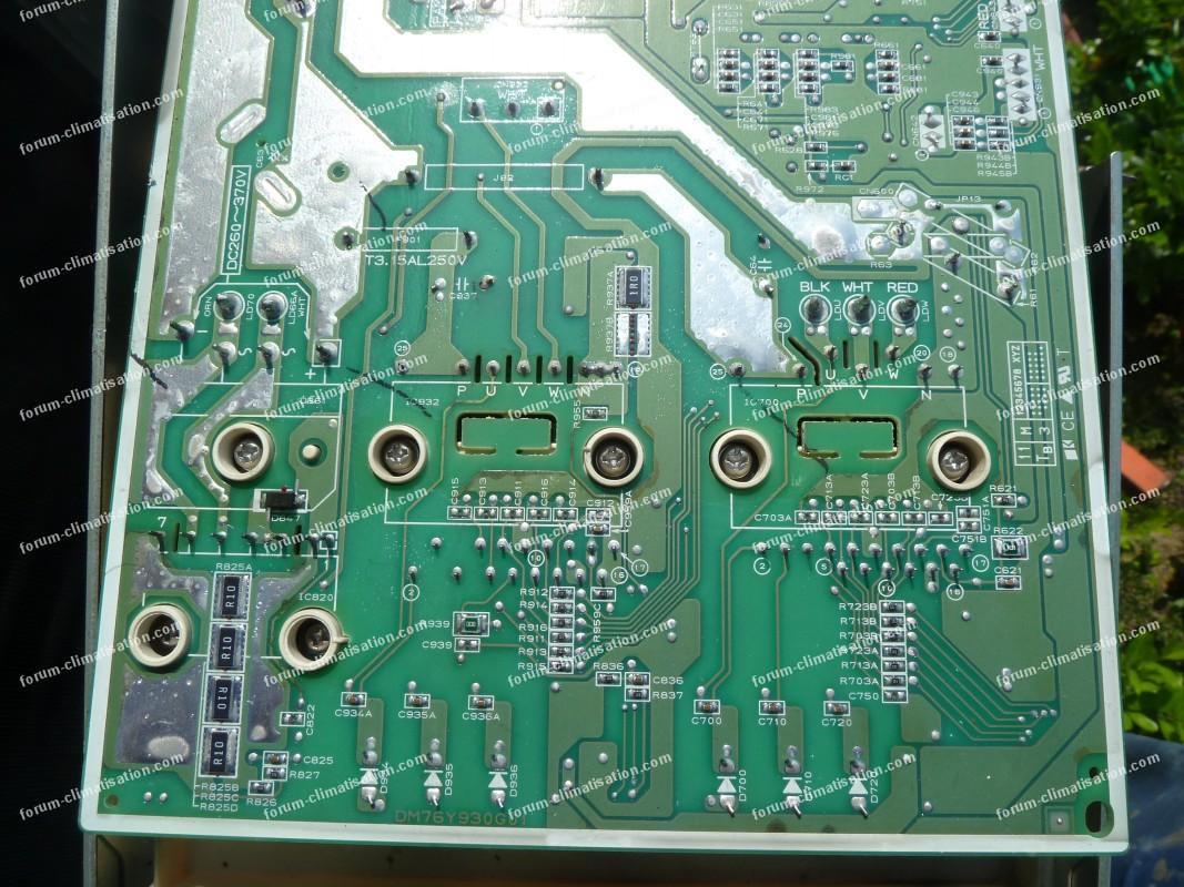 Dépannage carte électronique climatiseur Mitsubishi