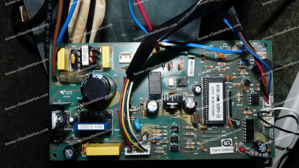 dépannage carte électronique climatiseur Ribo