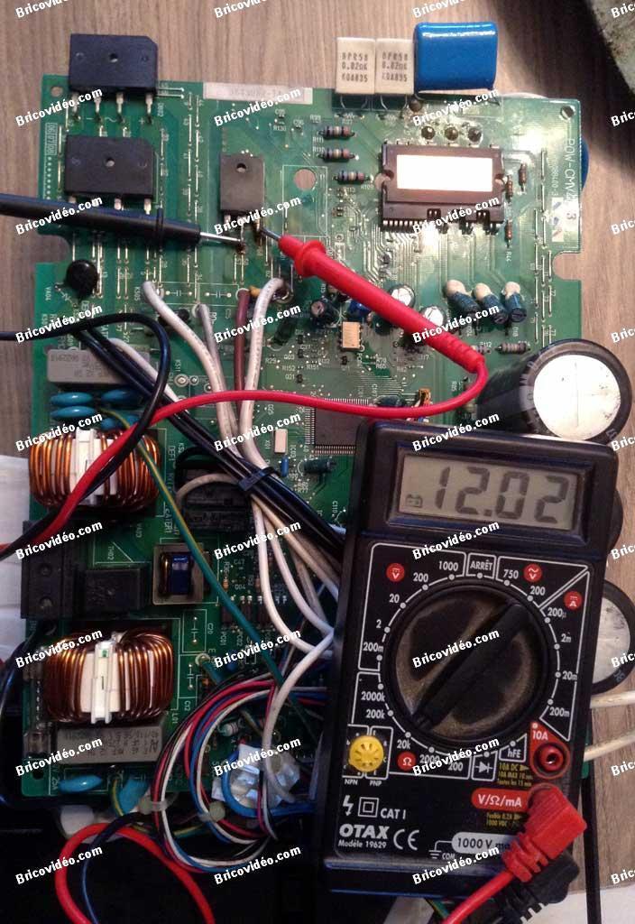 panne carte électronique climatiseur Sanyo