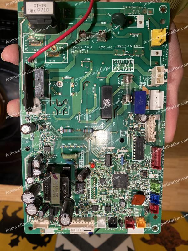 dépannage carte PAC Air Eau Fujitsu General