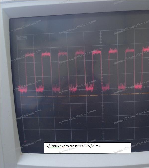 dépannage clim Mitsubishi mesure oscilloscope