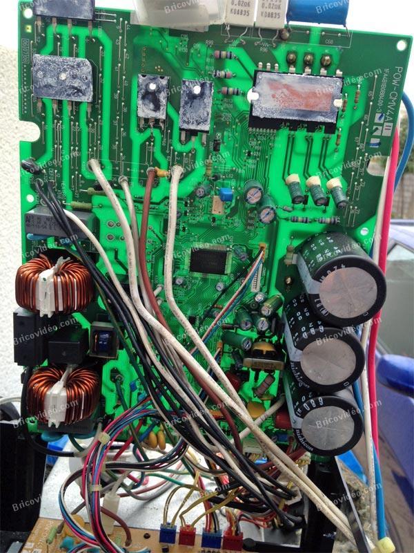 dépannage carte électronique clim Sanyo SAP-CMRV2446EH