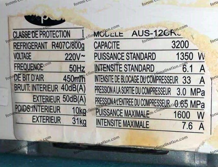 panne climatiseur XPER AUS-12CR