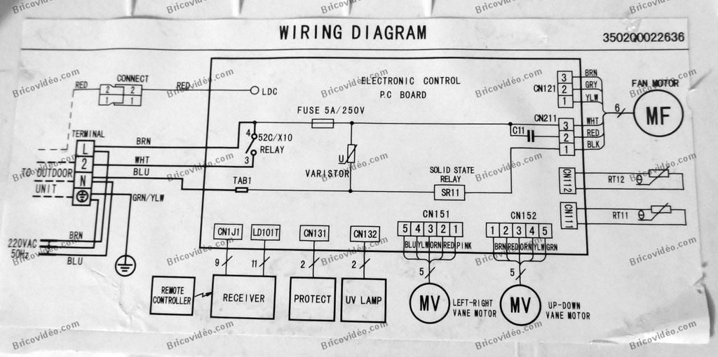 diagram alpina inverter cs 12ydr3a carte elec split wiring