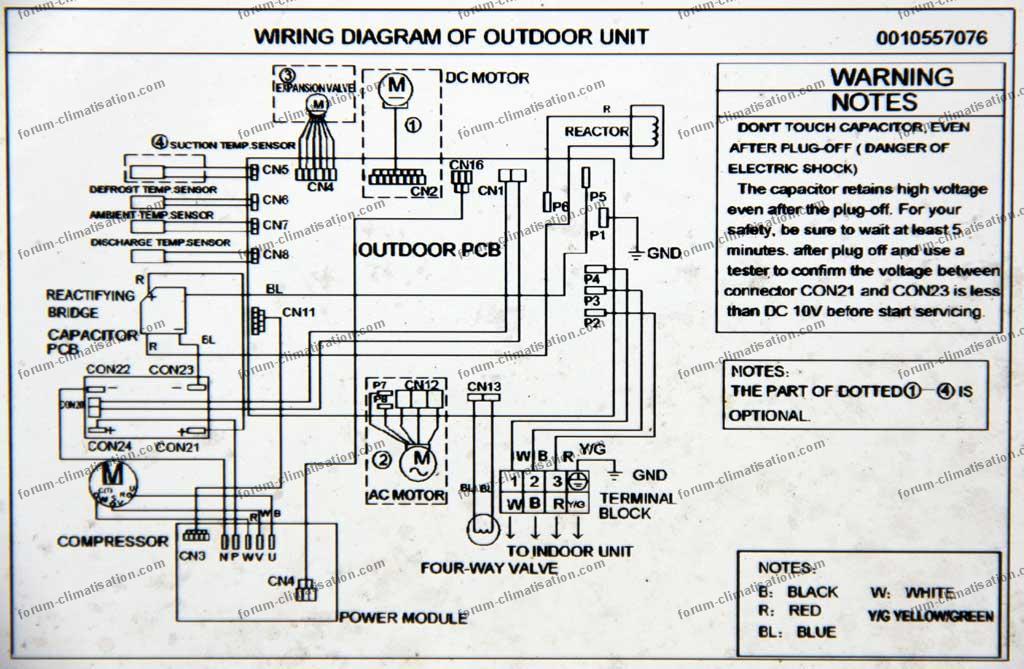 diagramme climatiseur Airton