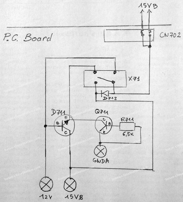 diode d712 dépannage carte clim Mitsubishi