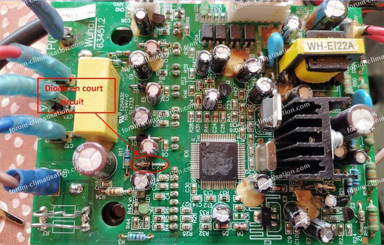 diode en court circuit clim airton