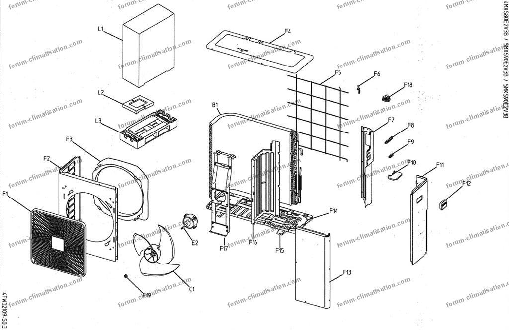 sifflement unit ext rieure daikin 5mx90e changer les roulements bricovid o d pannage. Black Bedroom Furniture Sets. Home Design Ideas