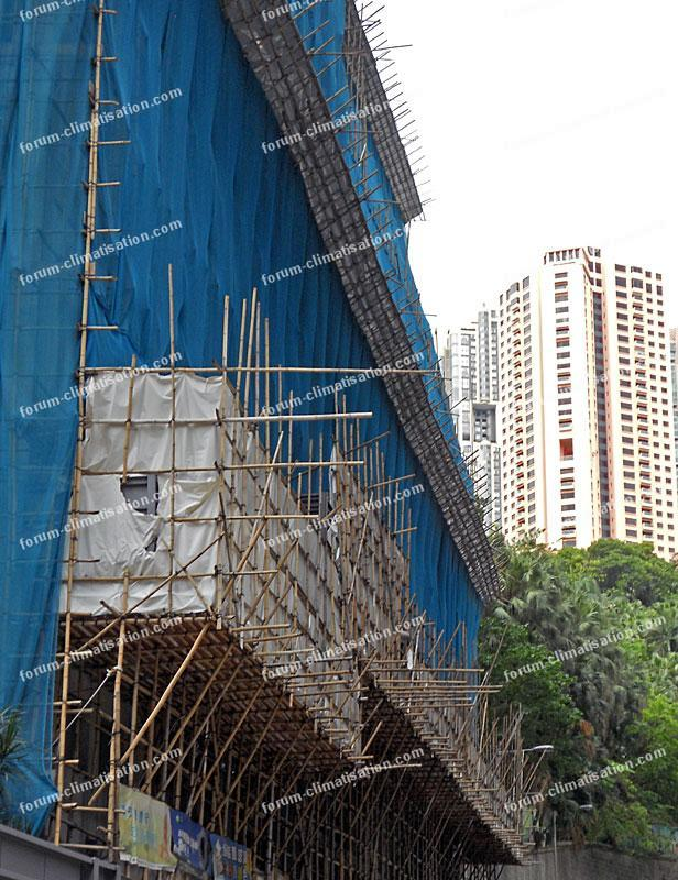 échafaudages à Hong Kong