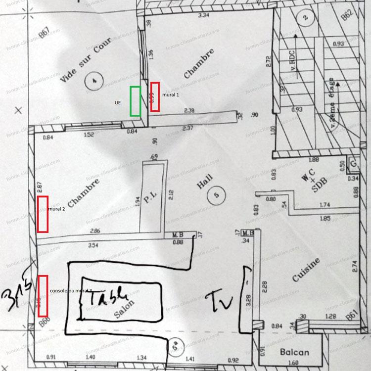 simulation emplacement unité intérieure 3