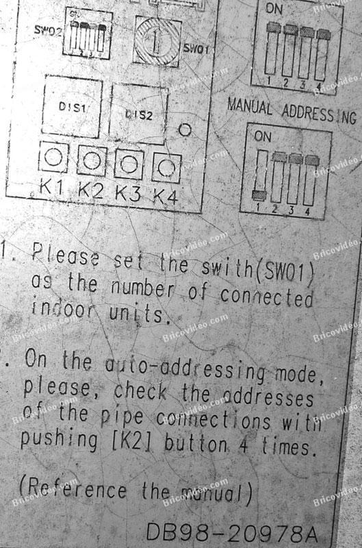 erreur e1 01 climatiseurs samsung