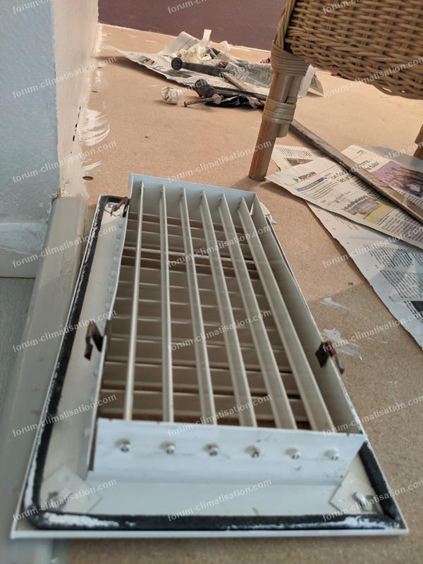 grille de diffusion climatisation