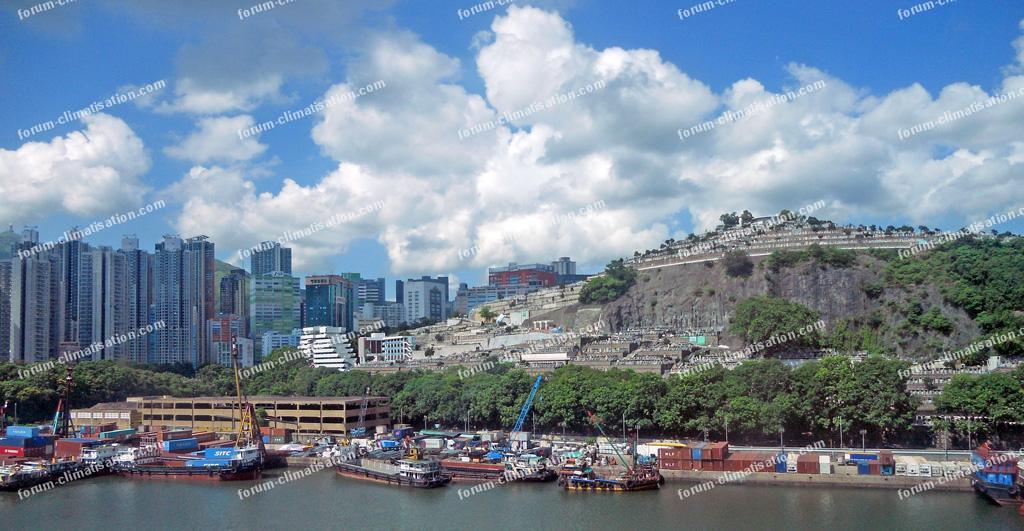 cimetière sur la falaise Hong Kong