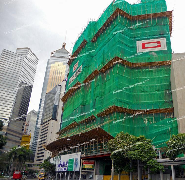 Hong Kong échafaudages