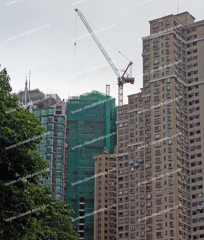 immeuble en construction à Hong Kong