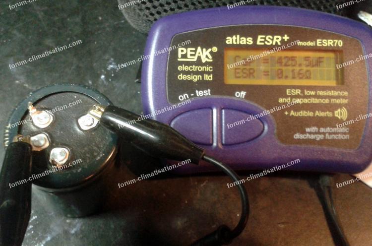 mesure condensateur avec un capacimètre