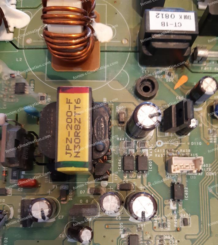 mesures carte climatisation Atlantic Fujitsu