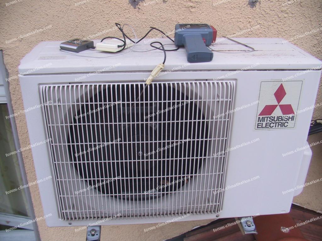 mesures pompe à chaleur Mitsubishi