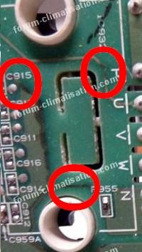 traces de corrosion climatiseur Mitsubishi
