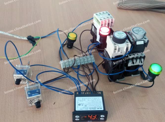 montage Pump down avec régulateur électronique